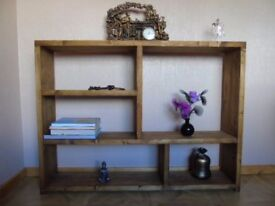 Rustic Style Handmade Bookcase Shelving Unit- Many Colours