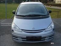 2002 TOYOTA PREVIA MANUAL BREAKING FOR PARTS