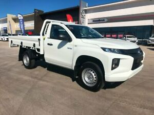 2019 Mitsubishi Triton MR MY19 GLX White 6 Speed Sports Automatic Cab Chassis Muswellbrook Muswellbrook Area Preview