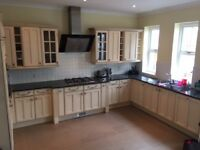 Complete Kitchen with granite worktop, oven, grill, hob and extractor
