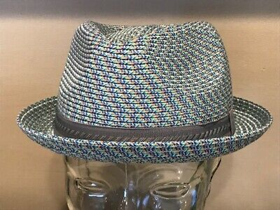 "Bailey Of Hollywood ""MANNES"" Men's Braided FEDORA TRILBY Hat XL - Extra -"