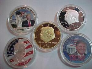 DONALD TRUMP COINS *MAKE AMERICA GREAT AGAIN*LTD # AVAILABLE  $39.00 FOR  5! S/H $5.95 in CANADA ONLY if AVAILABLE