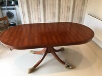 Bradley Yew Dining Table and Chairs with Sideboard