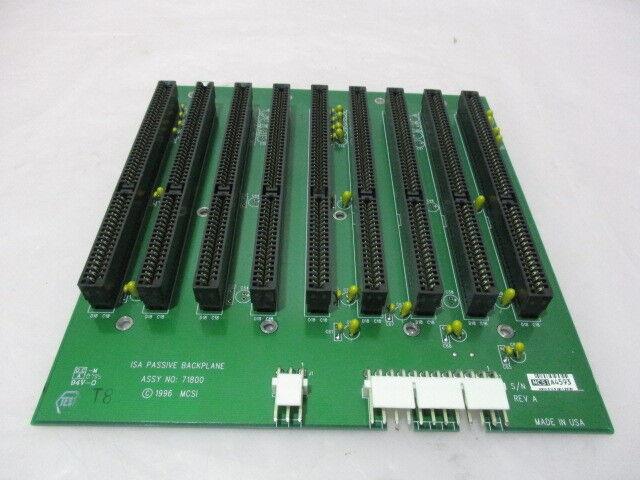 MCSI Technologies 71800 ISA Passive Backplane PCB, 71800301 PWB, 418579