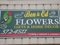 "FOR SALE Ben & Ed "" da boys "" Flowers, Gifts & Home Decor Shop"