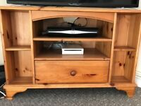 Lovely wooden TV stand with large drawer and handy spaces