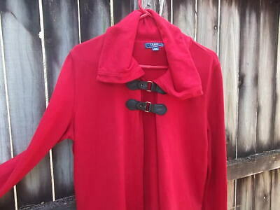 Chaps Women's Size Large Red Cape/ Jacket with Buckle Closure - Womens Capes