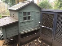 Chicken coop and run - free to collector. Hertfordshire.