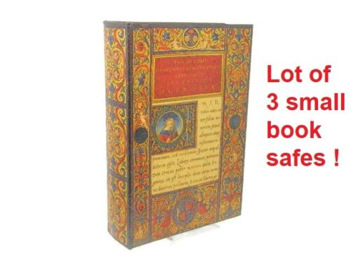 Lot of 3 ... Smaller Hollow, Fake Book Safes; Hide Valuables On Your Bookshelf