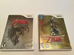 Wii Zelda Skyward Sword - 70$ Zelda Twilight Princess-20$