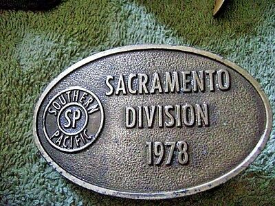 SOUTHERN PACIFIC SP SACRAMENTO DIVISION 1978 Belt Buckle