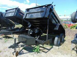 2016 Mirage 6 X 10 Tandem Axle Dump Trailer w. Tarp and Spare