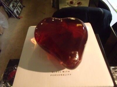 kosta boda Heartbeat Amber