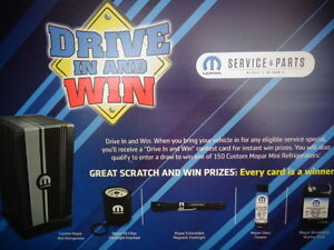 Drive in and Win starts today.