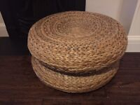 Rattan Stool/ Size table or Decor