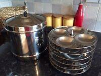 Idli Stand/Idli Maker/Kitchen Utensils/Indian cookware/Steamer/Kitchen storage/Table