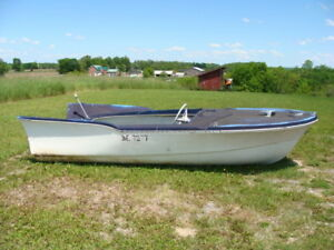 1966 LEAVENS BROTHERS ONE OF FIRST GLASS BOATS AND OLD 30 HP   M