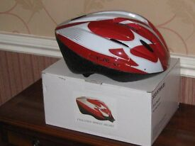 Challenger Ladies Stylish Cycle Helmet. Red / White New and Unused in original package