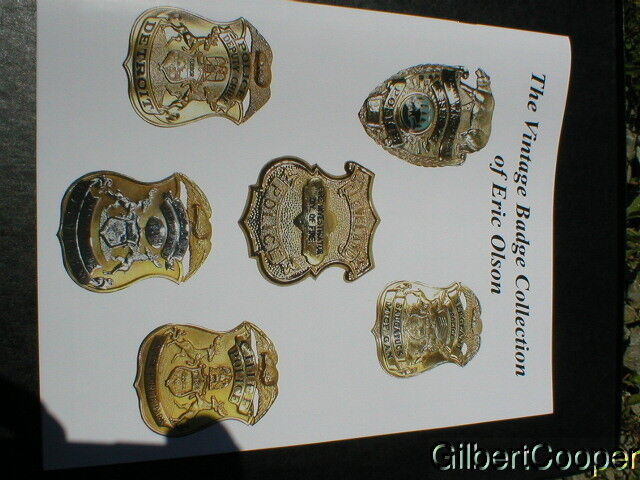 Book- titled- THE VINTAGE BADGE COLLECTION OF ERIC OLSON