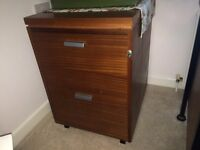 Locking Filing Cabinet, 2 large drawers of hanging files with lock and key, good condition :-)