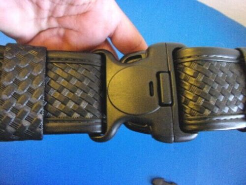 NWT Bianchi Black Basket Weave AccuMold Elite # 7950 Duty Belt, XXL ( 52-58 )