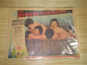 Dionne Quintuplets 1936 lobby card movie poster