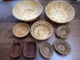 9 Different Baskets. Ideal for gifts, presentations, storage, food etc. Collect Fulham
