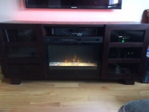 TV & Media Console with Dimplex Fireplace Insert