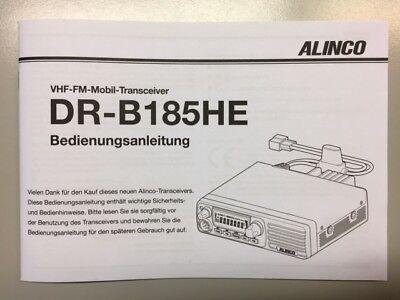 Deutsche Bedienungsanleitung für ALINCO DR-B185 Transceiver - Original Handbuch