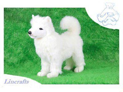 Samoyed Plush Soft Toy Dog by Hansa Sold by Lincrafts. 2709