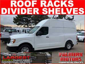 2015 NISSAN NV 2500 HIGH ROOF DROP DOWN LADDER RACKS SHELVES