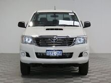 2013 Toyota Hilux KUN26R MY12 SR (4x4) White 5 Speed Manual Dual Cab Pick-up Hillman Rockingham Area Preview
