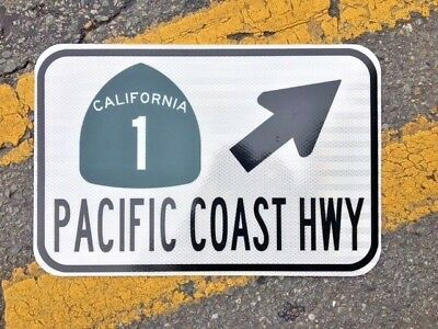 """PACIFIC COAST HIGHWAY road sign PCH HWY 1 California Hwy 1  12""""x18"""" - DOT style , used for sale  Rose Hill"""