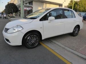 2008 Nissan Tiida C11 MY07 ST White 4 Speed Automatic Sedan Southport Gold Coast City Preview