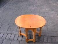 Solid Pine Drop Leaf Gateleg Occasional Table