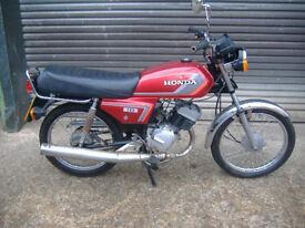 Clasic Honda H 100 SD 12 month MOT not cg