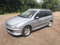 2006 PEUGEOT 206 VERVE SW ESTATE - SPARES OR REPAIR - £590