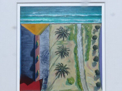 California Beach Iconic painting Santa Monica original by DOUGLAS K. MORRIS