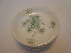 Grindly & Co Butter Pat Plates - late 1800's - set of 4