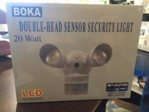 Security LED Double Head  Motion Sensor Lights 20W ETL Certified