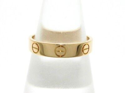 Auth Cartier Mini Love 18K Rose Gold HM6096 Ring #5 3/4