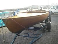 Classic Day keel yacht 18 feet on trailer £3250
