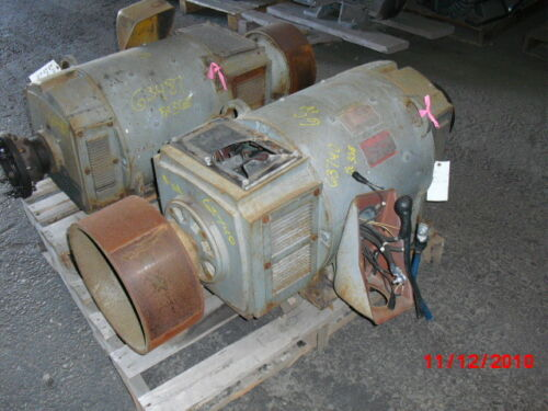 60 Hp Dc General Electric Motor, 1750 Rpm, 368aty Frame, Dp, 500 V