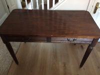 Wooden Desk W120cm, D61.5cm, H75cm.