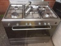 Elba 90cm full gas cooker stainless steel