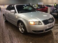 2004 AUDI A4 CABRIOLET 1.8 T SPORT CONVERTIBLE PETROL MANUAL 4 SEAT SILVER LEATHERS N 3 SERIES CLK