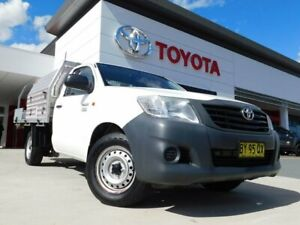 2013 Toyota Hilux TGN16R MY12 Workmate 4x2 White 5 Speed Manual Cab Chassis Greenway Tuggeranong Preview