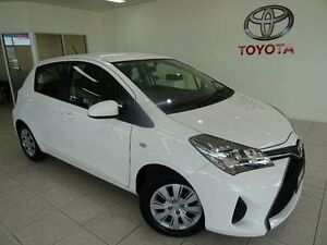 2015 Toyota Yaris NCP130R MY15 Ascent White 4 Speed Automatic Hatchback Westcourt Cairns City Preview