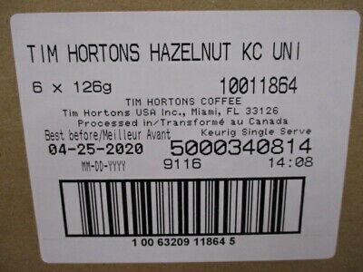Tim Hortons Hazelnut Medium Roast Coffee Keurig K-Cup 72 Count