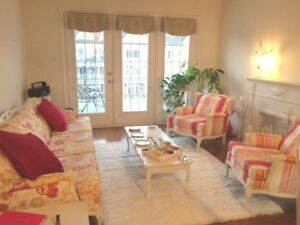 Fab French Provincial Antique Shabby Chic Sofa and Chairs Set